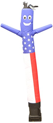 - LookOurWay Air Dancers Inflatable Tube Man Complete Set with 1/4 HP Sky Dancer Blower, 6-Feet, American Flag