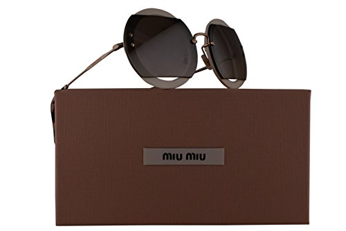 Miu Miu MU06SS Sunglasses Ivory White w/Brown Gradient Lens VAG4P0 SMU06S MU 06SS SMU - Miu Sunglasses White Miu