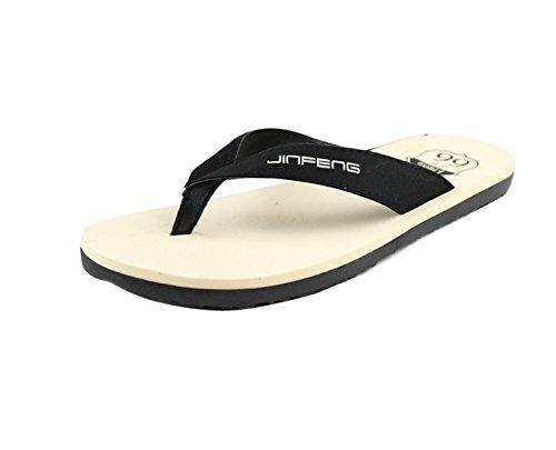 Gaorui Mannen Strand Slippers Slippers Thong Sandaal Mode Zachte Lichte Schoen Anti-slippen Zwart