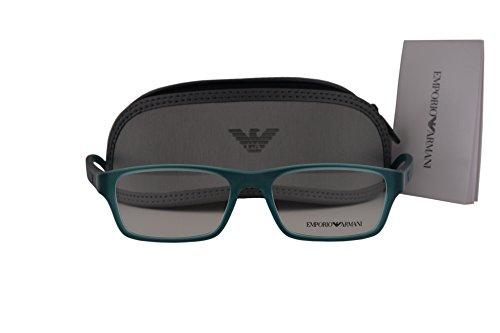 Emporio Armani EA3088 Eyeglasses 53-17-140 Matte Green Transparent 5534 EA - Emporio Arman