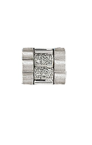 14K White Gold Masculine Tie Tac with .09 ct. Diamonds in the Center-86206