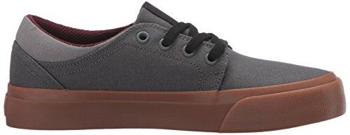 DC Shoes Trase TX - Zapatillas Bajas Para Niña gris/gris/rojo