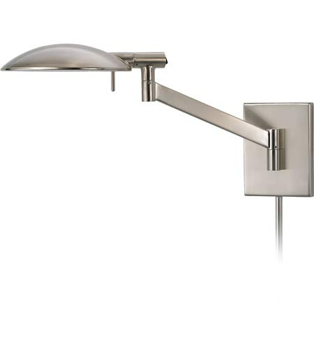 Sonneman 7085.13, Perch Swing Arm Tall Wall Sconce Lighting, 1 Light Halogen, Satin Nickel