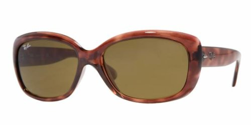 b526037a458 Ray-Ban RB 4101-716 JACKIE OHH Havana SunglassesWith Crystal Brown  Sunglasses...  Amazon.co.uk  Clothing