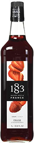 1883 Maison Routin - Strawberry Syrup - Made in France - Glass Bottle | 1 Liter (33.8 ounces)