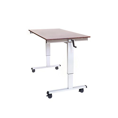 Offex OF-STANDUP-CF60-DW Crank Adjustable Computer Workstation Stand Up Desk, 60-Inch