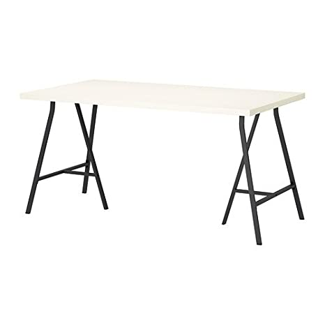IKEA blanco mesa de ordenador con gris caballete 59 x 29 1/2 ...