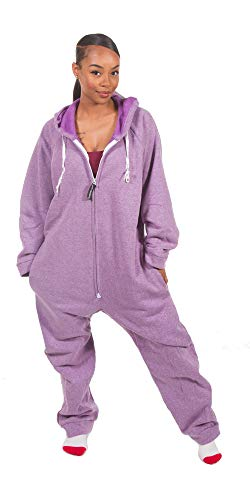 Forever Lazy Heavyweight Adult Onesie - Heathered Purple - L
