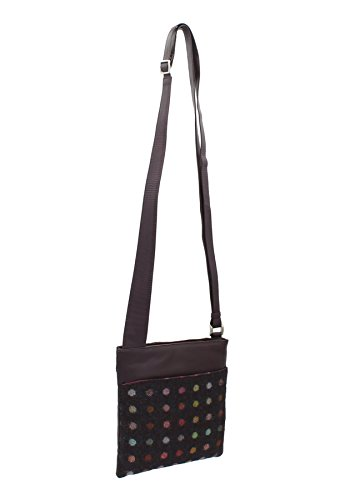 Bag Tweed Abertweed Mala amp; Spot 752 Leather Plum Corpo Pelle 40 Collection Croce Nero qWFAx606n