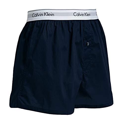 Calvin Klein Men's 2 Pack Modern Cotton Stretch Trunks, Blue, Medium