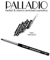 2 Pack Palladio Beauty Retractable Eye Liner Pencil 01 Pure Black