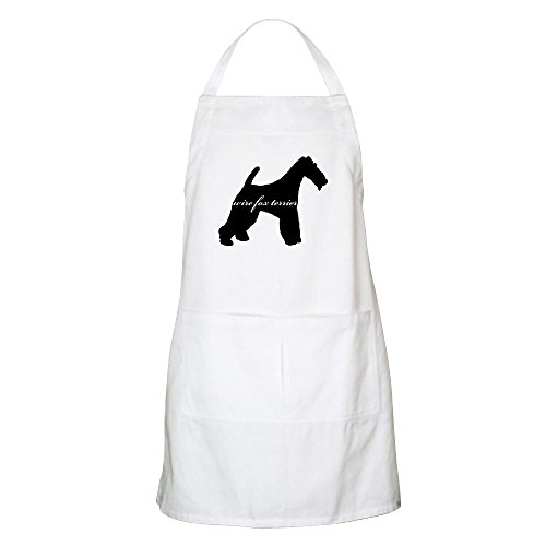 CafePress Wire Fox Terrier Design BBQ Apron Kitchen Apron with Pockets, Grilling Apron, Baking Apron