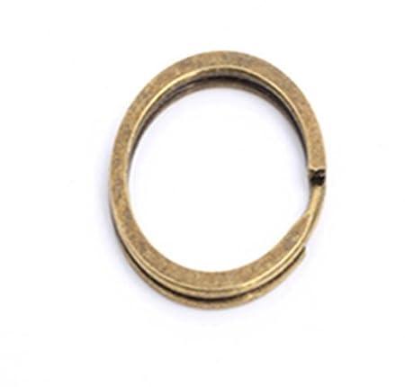 50PCS 18MM KEY RINGS SPLIT RING HOOP METAL KEYRING LOOP STEEL FINDINGS