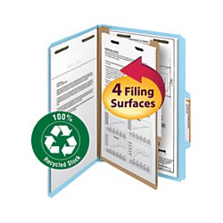 Divider Pressboard 2 (Smead 100% Recycled Pressboard Classification File Folder, 1 Divider, 2