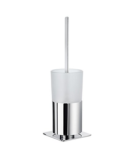 Brush Outline Smedbo Toilet (Smedbo FK321 Toilet Brush With Frosted Glass Container, Polished Chrome)