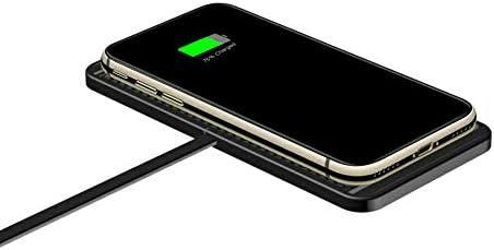 高速サムスンのためのiPhone、Android向けパッドのマット滑り止めのフィットを充電ユニバーサル10W QIワイヤレス車の充電器電話