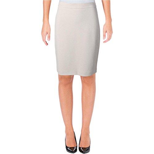 Hugo Boss BOSS Womens Herringbone Lined Pencil Skirt Tan 4 by Hugo Boss