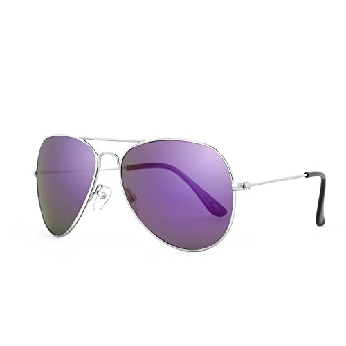 ROLF ROSSINI Aviator Polarized Sunglasses for Kids (Silver, Purple - Eyewear Purple