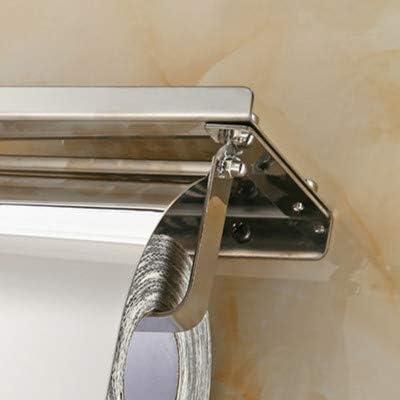 Porte-Rouleau de Papier Porte-papier hygiénique Salle de bain Porte-papier en rouleau en acier inoxydable Porte-Rouleau de Papier Multifonctions