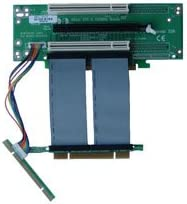 2U PCI-Express 16x and Two 32Bit 5V PCI Riser Card with 7cm Flex Cable