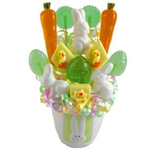 Bunny Hop Lollipop Easter Spring Bouquet