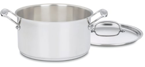 Cuisinart 744-24 Chef's Classic Stainless Stockpot with Cover, 6-Quart (Sauce Stainless Steel Pot)