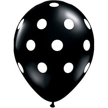 12 Black and White Polka Dot Balloons!]()