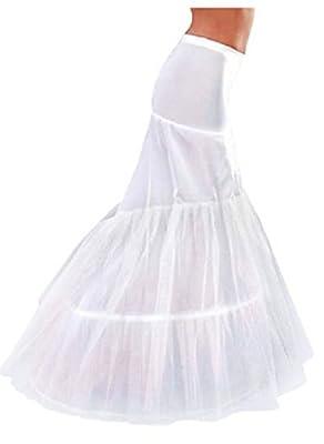 MLT 2-hoop Mermaid Floor-length Wedding Dress Bridal Petticoat Crinoline Underskirt