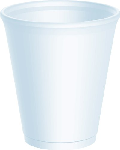 Dart® Drink Foam Cups, Eight Ounces, White, 40 Bags of 25 Per -
