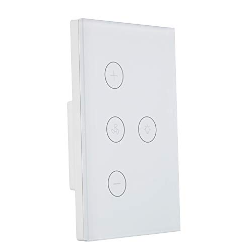 DHOUSE Smart Light Swich,WiFi Fan Celling Switch APP Remote Timer and Speed Control Compatible with Amazon Alexa,Ehco and Google Home,FCC Certification,No Hub Required,Easy and Safe installation