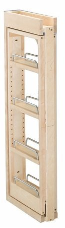 Rev-A-Shelf RS432.WF.6C 6 in. W x 30 in. H Wall Filler Pull Out, Wood - Rev A-shelf Wood Pull