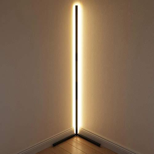 Corner staande lamp, met afstandsbediening, LED-minimum lamp, ontwerper statief LED staande lamp armatuur, gebruikt in…