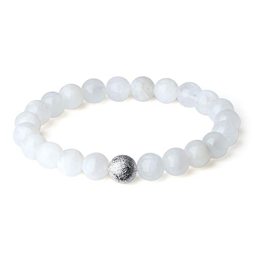 (OKIKO Women Bracelet Handmade Gemstone Charm Rosary Boho Fashion Jewelry Natural Gift)