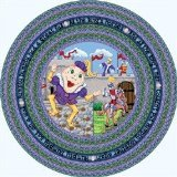 Joy Carpets Kid Essentials Infants & Toddlers Round Humpty Dumpty Rug, Multicolored, 5'4
