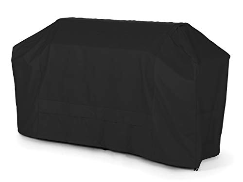 48in Depth - Covermates - Island Grill Cover - Fits 86 in Width, 44 in Depth and 48 in Height - Ultima Ripstop - 600D Fade/Water Resistant Polyester - Locking Drawcord - 7 Year Warranty - Ripstop Black
