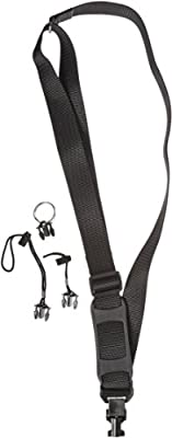 Gear Keeper TL1-0001 Adjustable Shoulder Strap with Q/C-II Split Ring and Lanyard Accessories