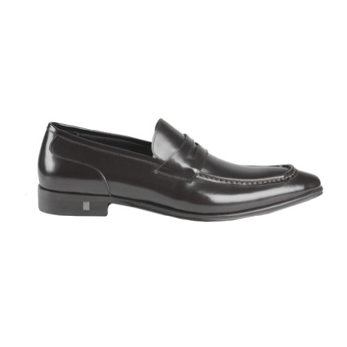 Versace-Collection-Black-Leather-Loafers-Shoes