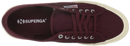 Red Women's Sneaker 2750 Dark Boredeaux Cotu Superga 7xIPwdq47