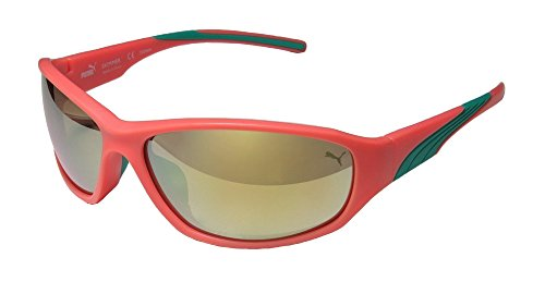 Puma 15165 Skimmer Mens/Womens Designer Full-rim Mirrored Lenses Sunglasses/Shades (64-15-130, Neon - Sunglasses Men Puma For
