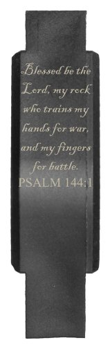 - Tactical Trigger Guard (Screw Assembled) Laser Engraved Black Polymer PSALM 144:1