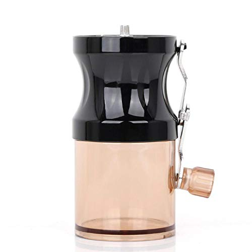 Portable Plastic Hand Manual Coffee Grinder Handmade Bean Pepper Spice Burr Mill Grinding Tool for Home,B