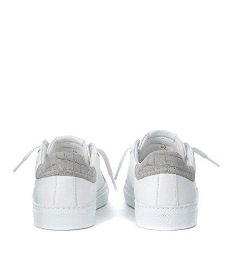 Hide&Jack Sneaker Rainbow Sky in Pelle Bianca e Suede Grigio Bianco