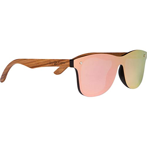 SoFlow Pink/Purple Zebra Wood Sunglasses for Women/Men - Polarized - Wooden