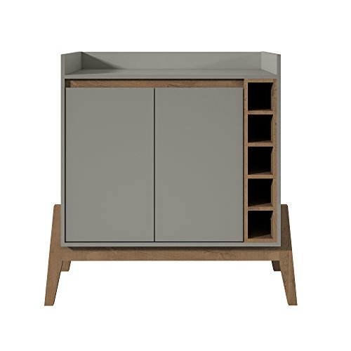 Manhattan Comfort 350905 Essence 2 Tone Buffet and Wine Cabinet, Grey ()