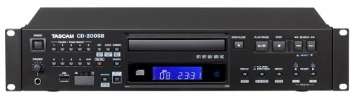 Tascam Single - TASCAM CD-200SB Single SD/SDHC, USB & CD Professional 2U Rackmountable Player