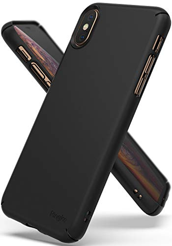 Ringke Slim Compatible with iPhone Xs, Superior Slender Precise Contour Lightweight Classy Fashionable Cover for iPhone X, iPhone Xs 5.8 (2018) - SF Black