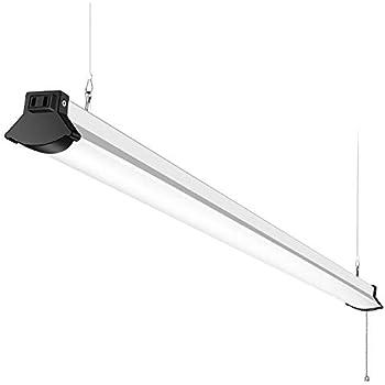 Linkable 4ft Led Shop Lights For Garage 50w 5600lm 5000k 4 Foot Linear Strip Ceiling Lighting