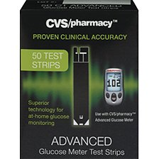 Cvs/pharmacy Advance Glucose Meter Test Strips ~50 Test Strips (Pack of 1)