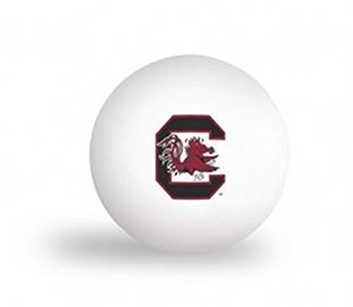 Laser Magic NCAA University of South Carolina Gamecocks 6 pack Ping Pong Balls