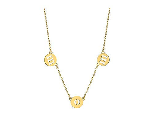 Kate Spade New York Women's Mom Knows Best Pendant Necklace, Clear/Gold, One Size